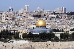 Vieja opinión de la ciudad de Jerusalén Fotografía de archivo