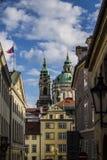 Vieja opinión de Praga Imagen de archivo