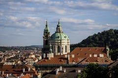 Vieja opinión de Praga Fotos de archivo libres de regalías