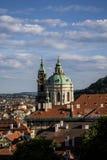 Vieja opinión de Praga Imagenes de archivo