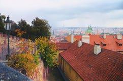 Vieja opinión de Praga, República Checa imagenes de archivo