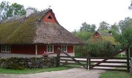 Vieja opinión histórica de la aldea Fotografía de archivo