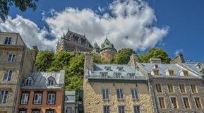 Vieja opinión histórica de Quebec fotos de archivo libres de regalías