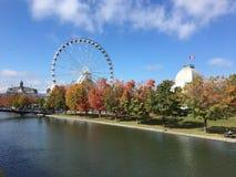 Vieja opinión portuaria 1 de Montreal fotos de archivo libres de regalías