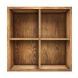 Vieja opinión superior de madera de la caja o del cajón aislada foto de archivo