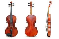 Vieja opinión usada del violín para el pasaporte Imagen de archivo libre de regalías