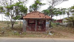 Vieja parada srilanquesa de los buss Fotografía de archivo