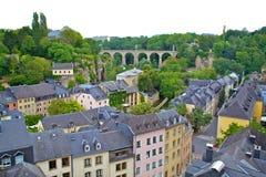 Vieja parte de la ciudad de Luxemburgo Fotos de archivo