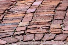 Vieja pavimentación de la calle del ladrillo Fotografía de archivo