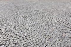 Vieja pavimentación de piedra cuadrada Fotos de archivo libres de regalías