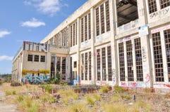 Vieja perspectiva de la central eléctrica Fotografía de archivo libre de regalías