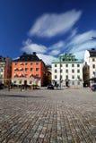 Vieja pieza de la ciudad de Estocolmo imagenes de archivo