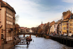 Vieja pieza de la ciudad de Estrasburgo fotografía de archivo libre de regalías