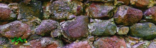 Vieja pieza de la pared de albañilería Fotografía de archivo