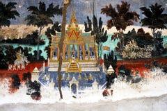 Vieja pintura camboyana Fotos de archivo libres de regalías