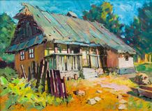 Vieja pintura casera preciosa fotografía de archivo