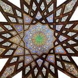 Vieja pintura del adorno en el techo imágenes de archivo libres de regalías