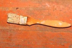 Vieja pintura del cepillo Foto de archivo libre de regalías
