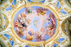 Vieja pintura del techo Imagen de archivo libre de regalías