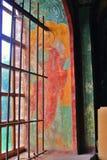 Vieja pintura religiosa Iglesia del Saint Nicolas en Yaroslavl, Ru Imagen de archivo libre de regalías