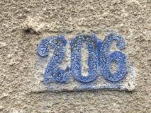 Vieja placa de calle con el número 026 Fotos de archivo