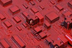 Vieja placa de circuito del ordenador Fotografía de archivo libre de regalías
