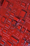 Vieja placa de circuito del ordenador Imagen de archivo libre de regalías