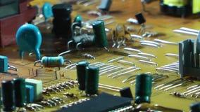 Vieja placa de circuito electrónica de la TV almacen de video