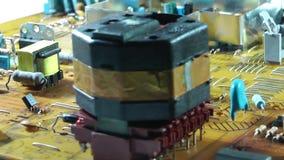 Vieja placa de circuito electrónica de la TV almacen de metraje de vídeo