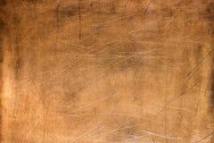 Vieja placa de metal, cobre cepillado de la textura, fondo de bronce fotografía de archivo