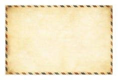 Vieja plantilla de la postal con la trayectoria de recortes incluida Imagenes de archivo