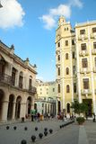 Vieja Plaza στην Αβάνα στην Κούβα στοκ φωτογραφία με δικαίωμα ελεύθερης χρήσης