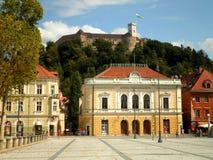 Vieja plaza de Ljubljana Imagen de archivo libre de regalías