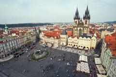 Vieja plaza de Praga Fotografía de archivo libre de regalías