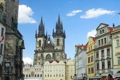 Vieja plaza de Praga Fotos de archivo