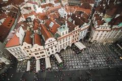 Vieja plaza de Praga foto de archivo libre de regalías