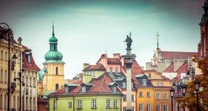 Vieja plaza de Varsovia fotos de archivo