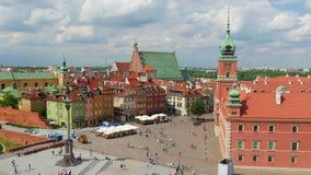 vieja plaza de Varsovia, Polonia, timelapse, 4k almacen de video
