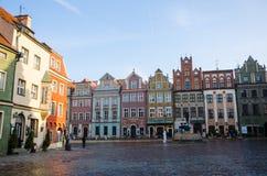 """Vieja plaza del mercado en el """"de PoznaÅ Foto de archivo"""