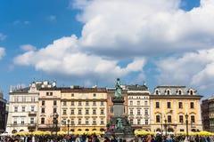 Vieja plaza del mercado en Kraków Imagen de archivo