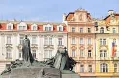 Vieja plaza en Praga Foto de archivo libre de regalías