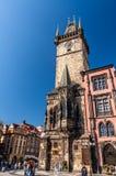 Vieja plaza en Praga, República Checa Imagenes de archivo