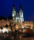 Vieja plaza, Praga Imagen de archivo libre de regalías