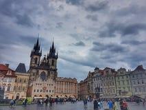 Vieja plaza Praga imagen de archivo libre de regalías