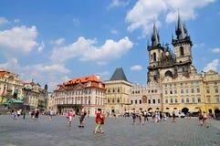 Vieja plaza, Praga Foto de archivo