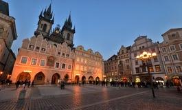 Vieja plaza, Praga Fotos de archivo libres de regalías