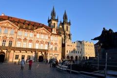 Vieja plaza, Praga Imagenes de archivo