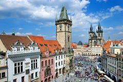 Vieja plaza, Praga (la UNESCO), República Checa imagen de archivo libre de regalías