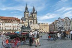 Vieja plaza, Praga, República Checa Fotografía de archivo