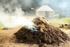 Vieja producción de carbón de leña Imagen de archivo